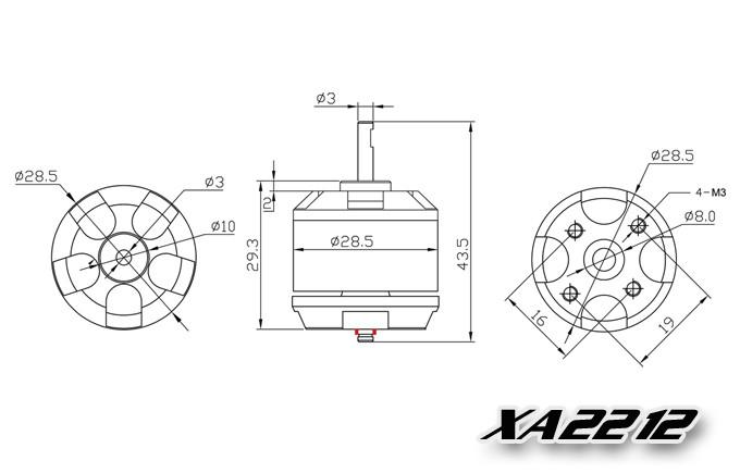 EMAX xa2212 wymiary