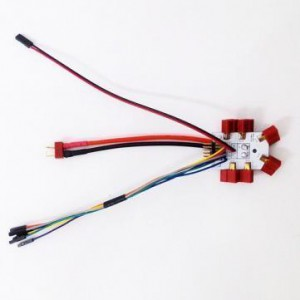 Płytka zasilająca 6xDEAN z przewodami i XT60 - Power Distribution dla Hexacoptera