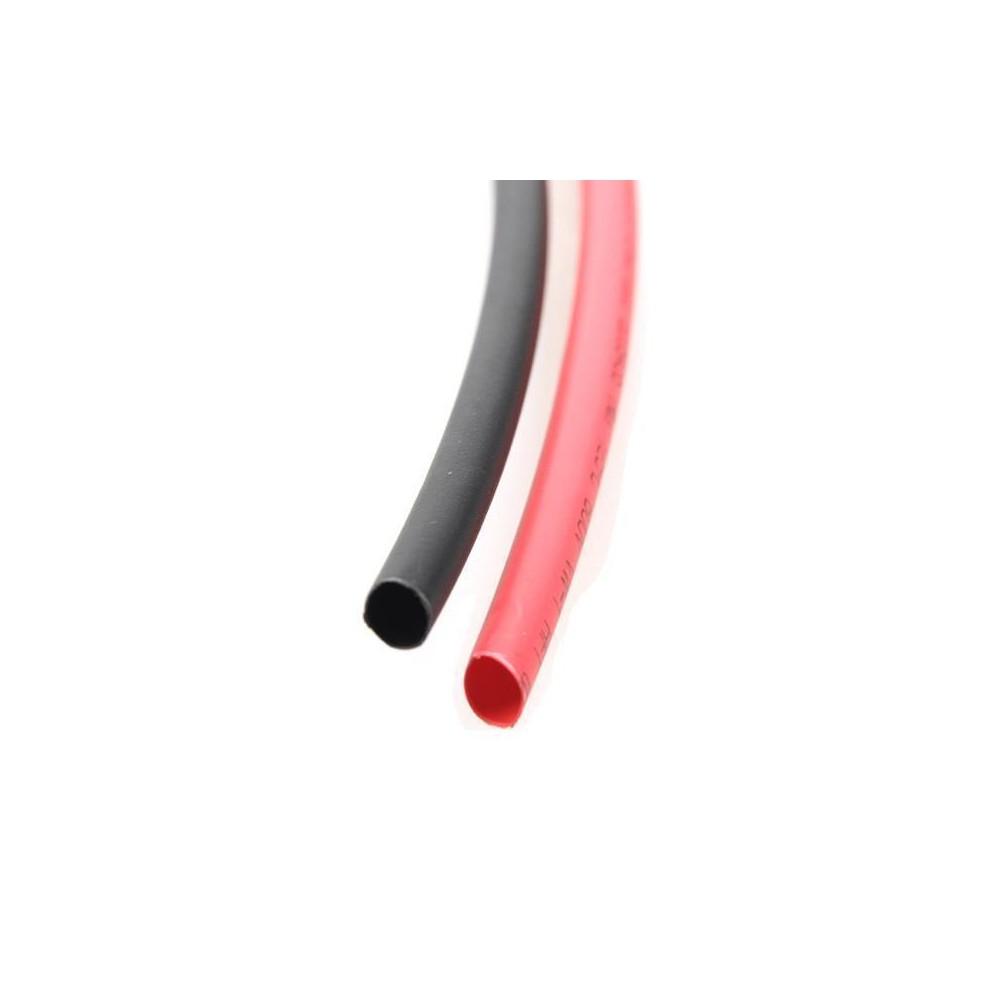 Rurka koszulka termokurczliwa 2,0mm 2m czerwona + czarna