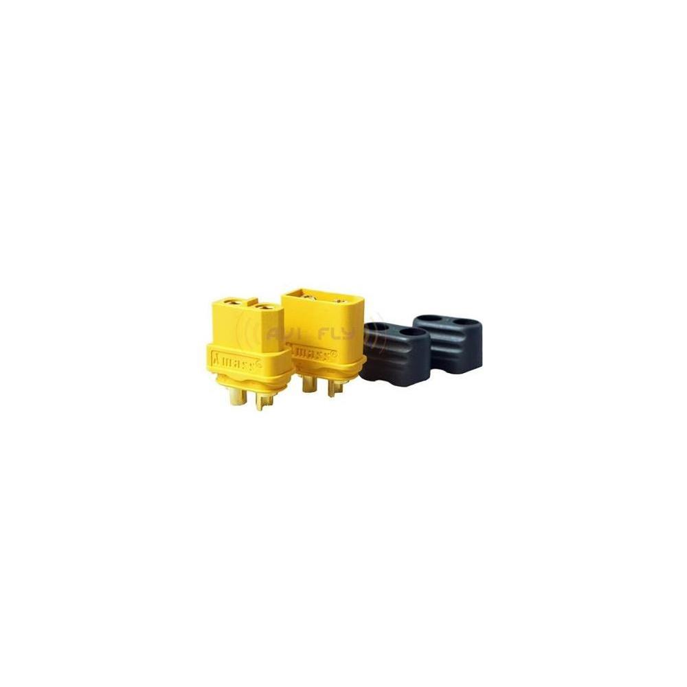 Konektor XT60H - XT60 z osłoną - para - Gniazdo + Wtyk - Oryginał Amass