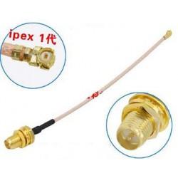 Adapter U.FL (IPEX) - RP-SMA female długość 20CM