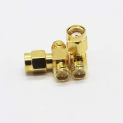 Adapter RP-SMA male - 2 x RP-SMA female