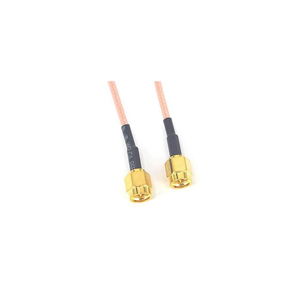 Przejściówka adapter SMA plug - plug male przewód 10 cm