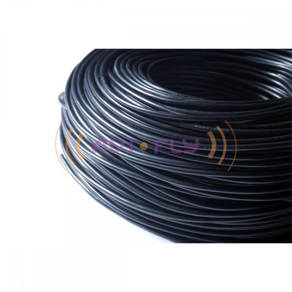 Przewód silikonowy Amass 13AWG 2,6mm czarny 1m-4018