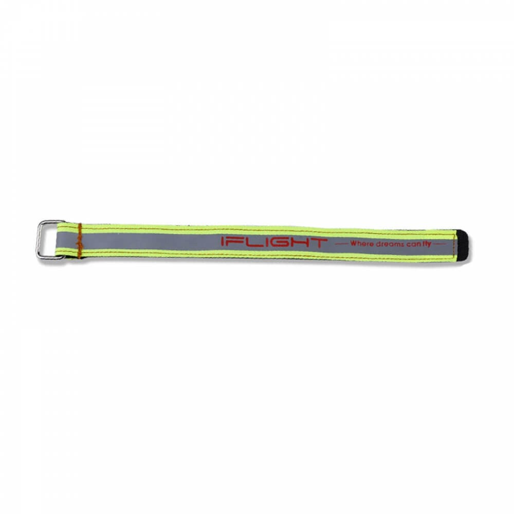 Rzep Battery Strap 20x250mm Fluo