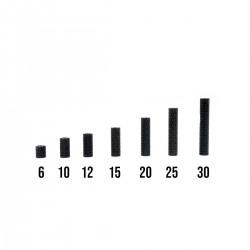 ALUMINUM Textured STANDOFF M3 6,10,12,15,20,25,30MM