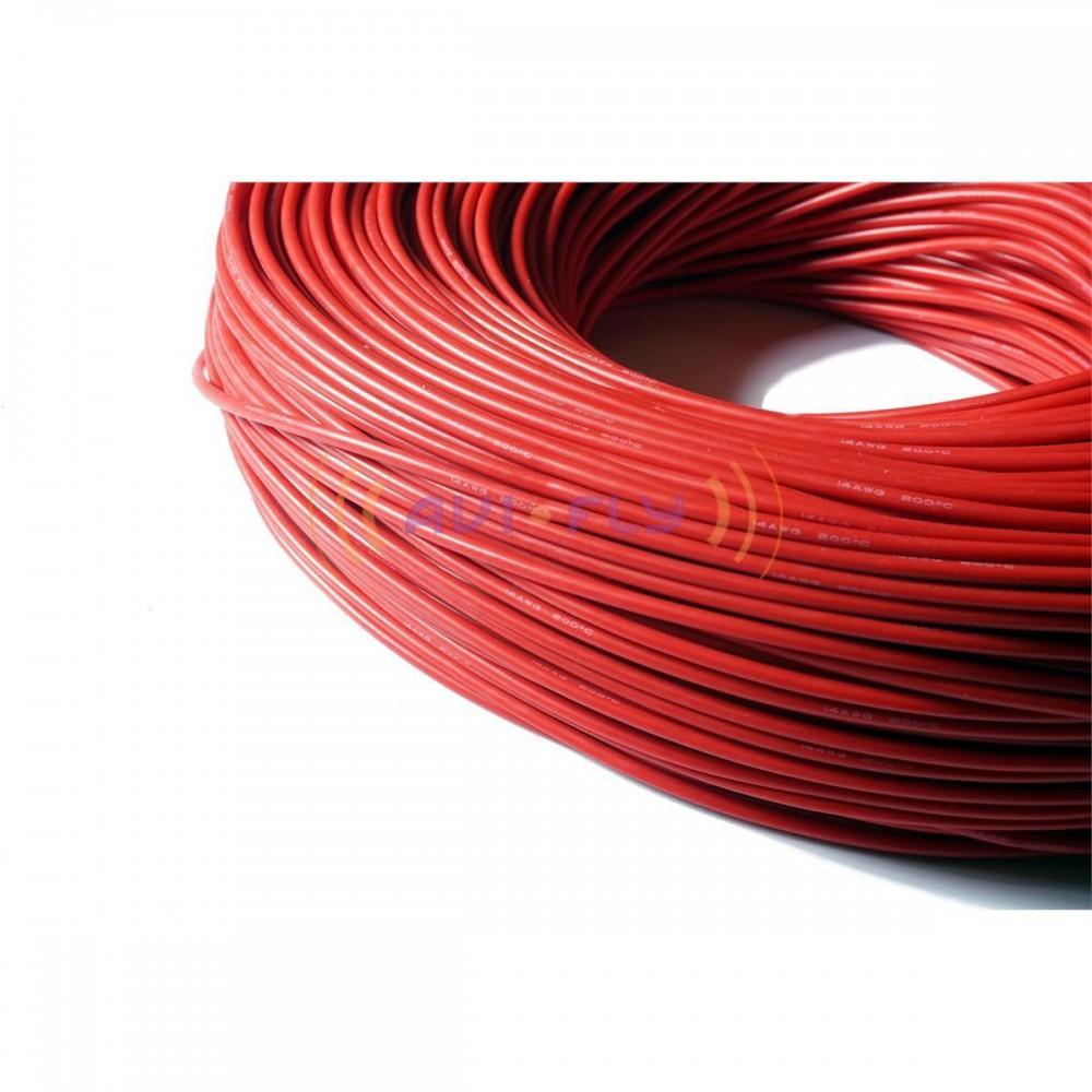 Przewód silikonowy Amass 14AWG 2,07mm czerwony 1m