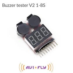 Alarm tester V2 cyfrowy napięcia Li-Pol 2-8S buzzer