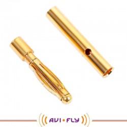 Wtyk GOLD 2,0mm długi - para, konektor bananowy