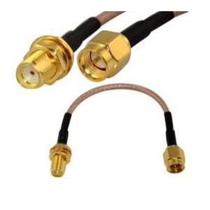 Przejściówka z przewodem adapter 10cm SMA Plug to SMA Jack