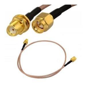 Przejściówka z przewodem adapter 20cm SMA Plug to SMA Jack