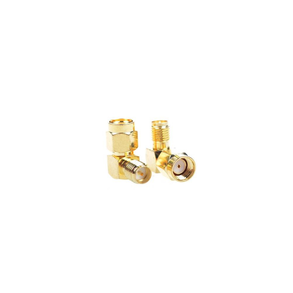 Przejściówka kątowa 90° adapter  RPSMA Plug to RPSMA Jack