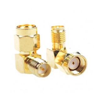 Przejściówka kątowa 90° adapter  RP-SMA male - RP-SMA female