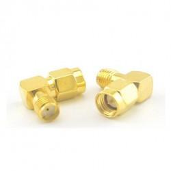 Przejściówka kątowa 90° adapter SMA Plug to SMA Jack