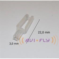 Snap plastikowy składany o3,0mm × L22mm