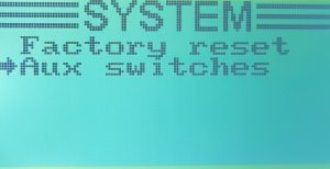 Zakładka Aux switches w ustawieniach aparatury FS-i6X