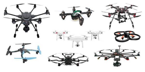 Rodzaje dronów