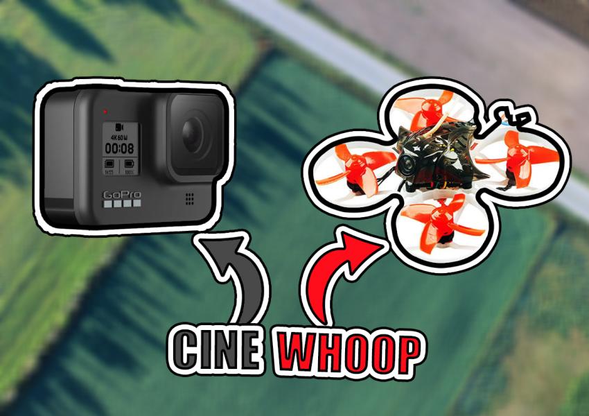 Czym jest cinewhoop. To połączenie dwóch słów cine - kinowy i whoop - mały dron.