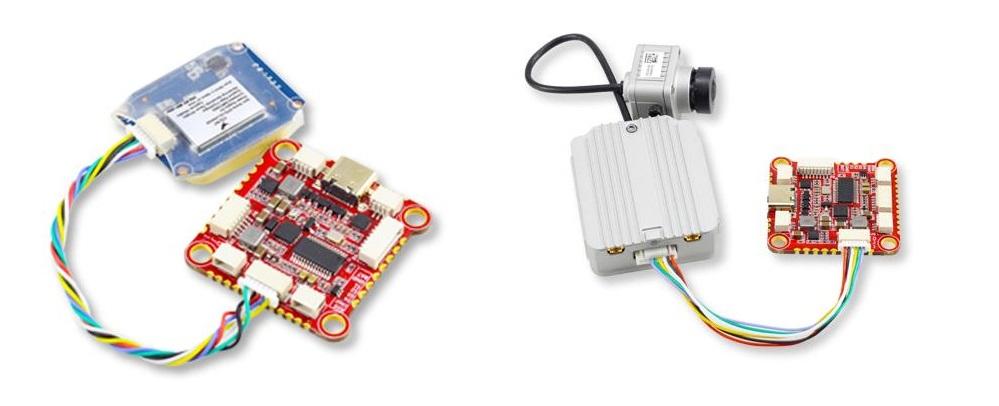 Podłączenie do kontrolera lotu Zeus F722 GPS oraz systemu DJI Air Unit