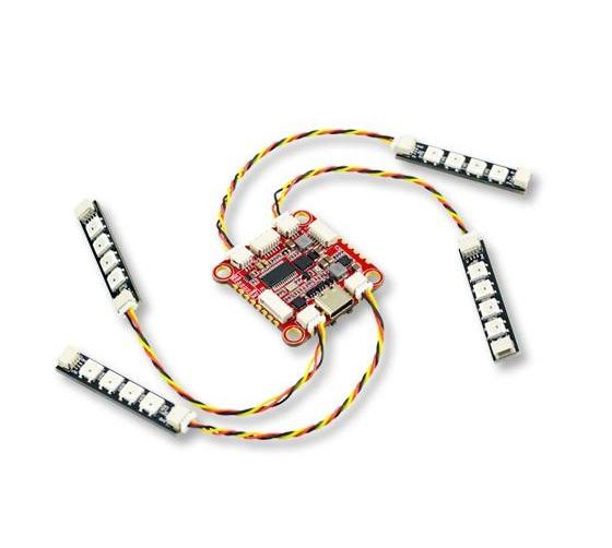 Kontroler lotu Zeus F722 podłączenie oświetlenia LED WS2812