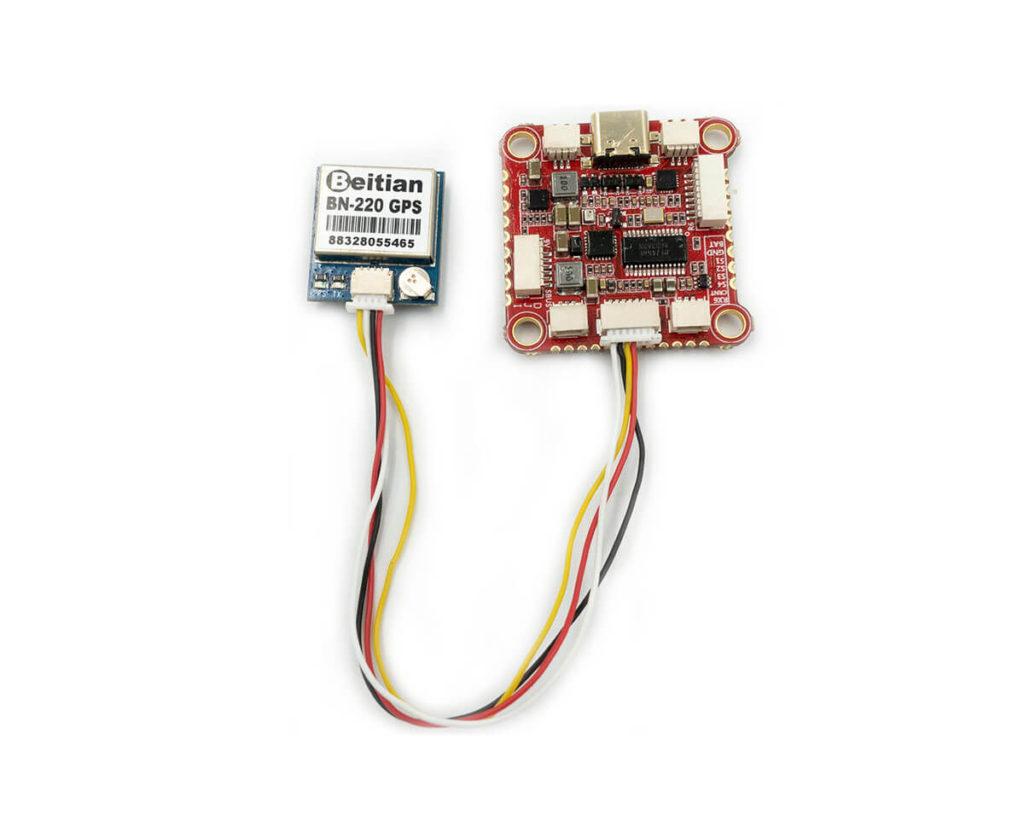 Podłączenie GPS za pomocą przewodów dołączonych do FC Zeus F722