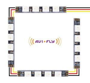 Aby każda kolejna dioda była odczytywana jako osobna, pierwszy pasek należy podłączyć z pinu LED do pinu Din