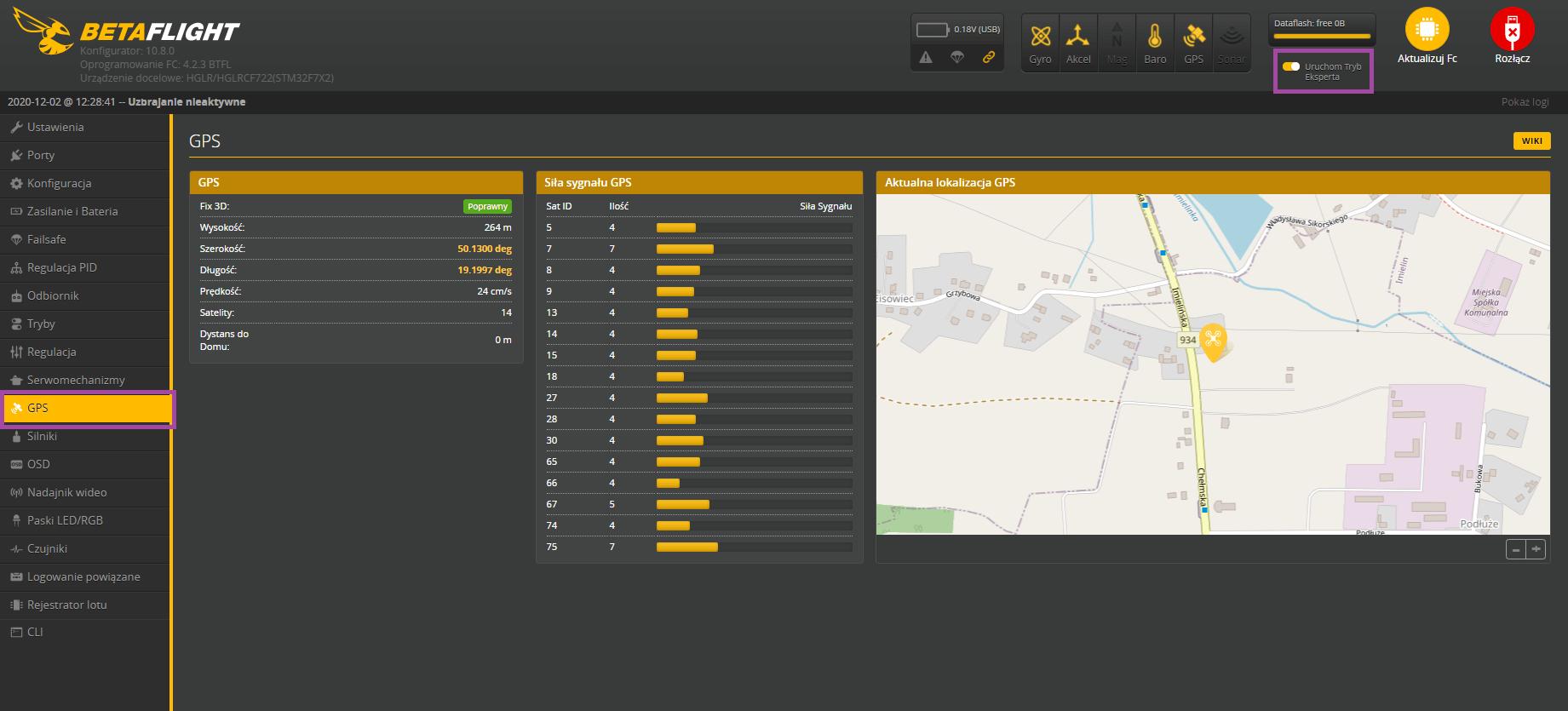 Sprawdzenie lokalizacji ustalonej przez GPS