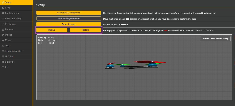 Tworzenie kopii zapasowej betaflight