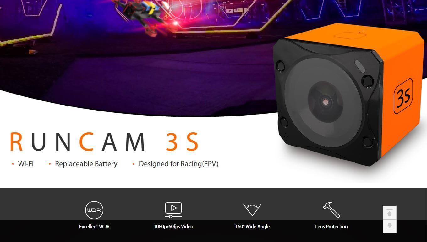 RunCam 3S stworzona do FPV z WiFI oraz świetnie działającym WDR