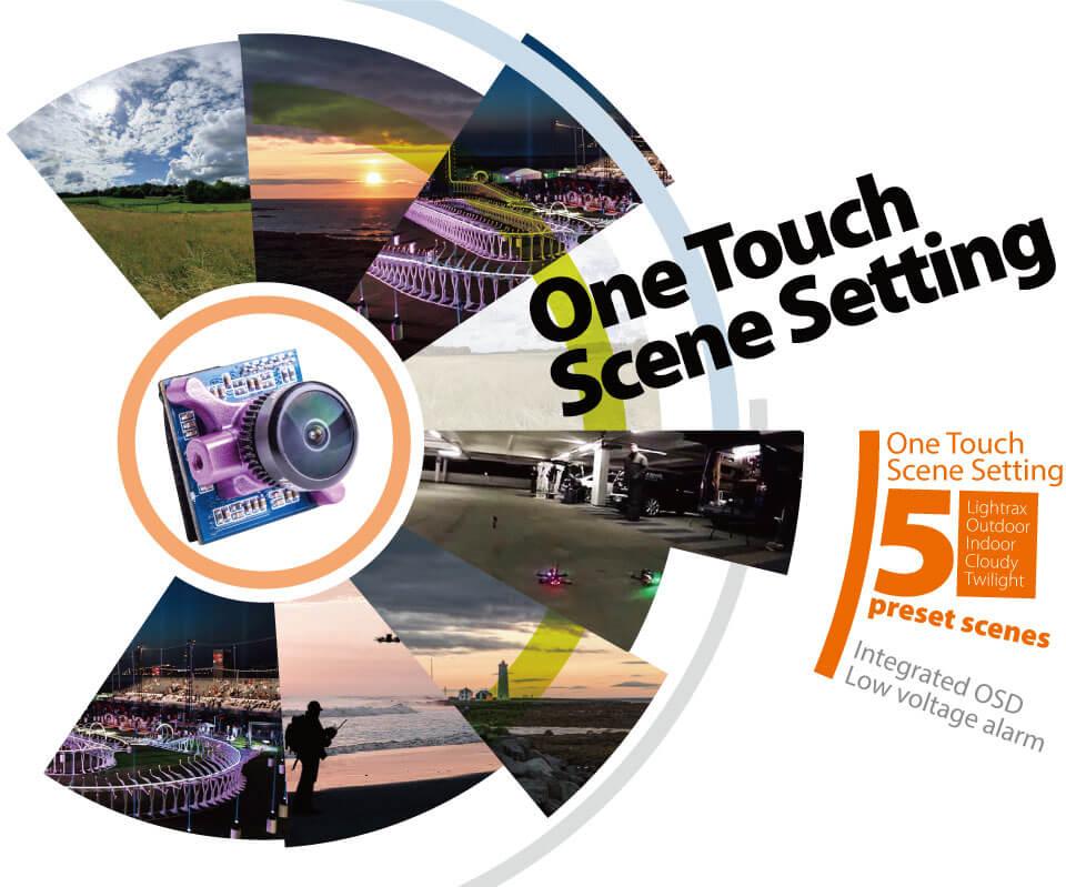 Wbudowane OSD one touch scene setting