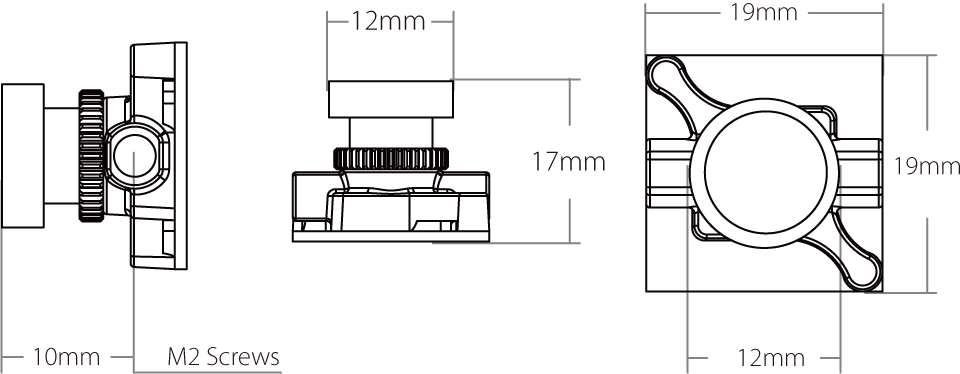 Micro Sparrow 2 RunCam Size