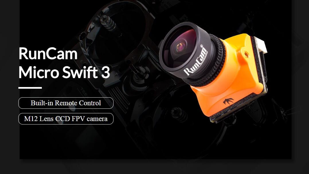 Micro Swift 3 z wbudowanym OSD do zdalnego sterowania ustawieniami oraz nową soczewką o rozmiarze M12