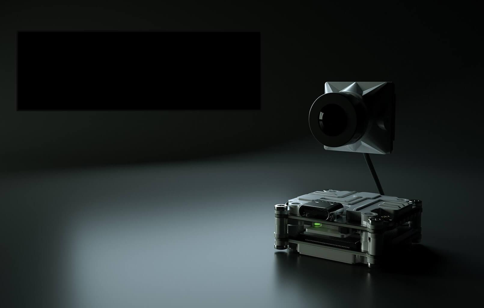 Nadajnik z kamerą do systemu cyfrowej wizji FPV