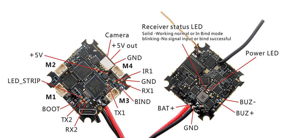 Podłączenie kontrolera lotu crazybee x