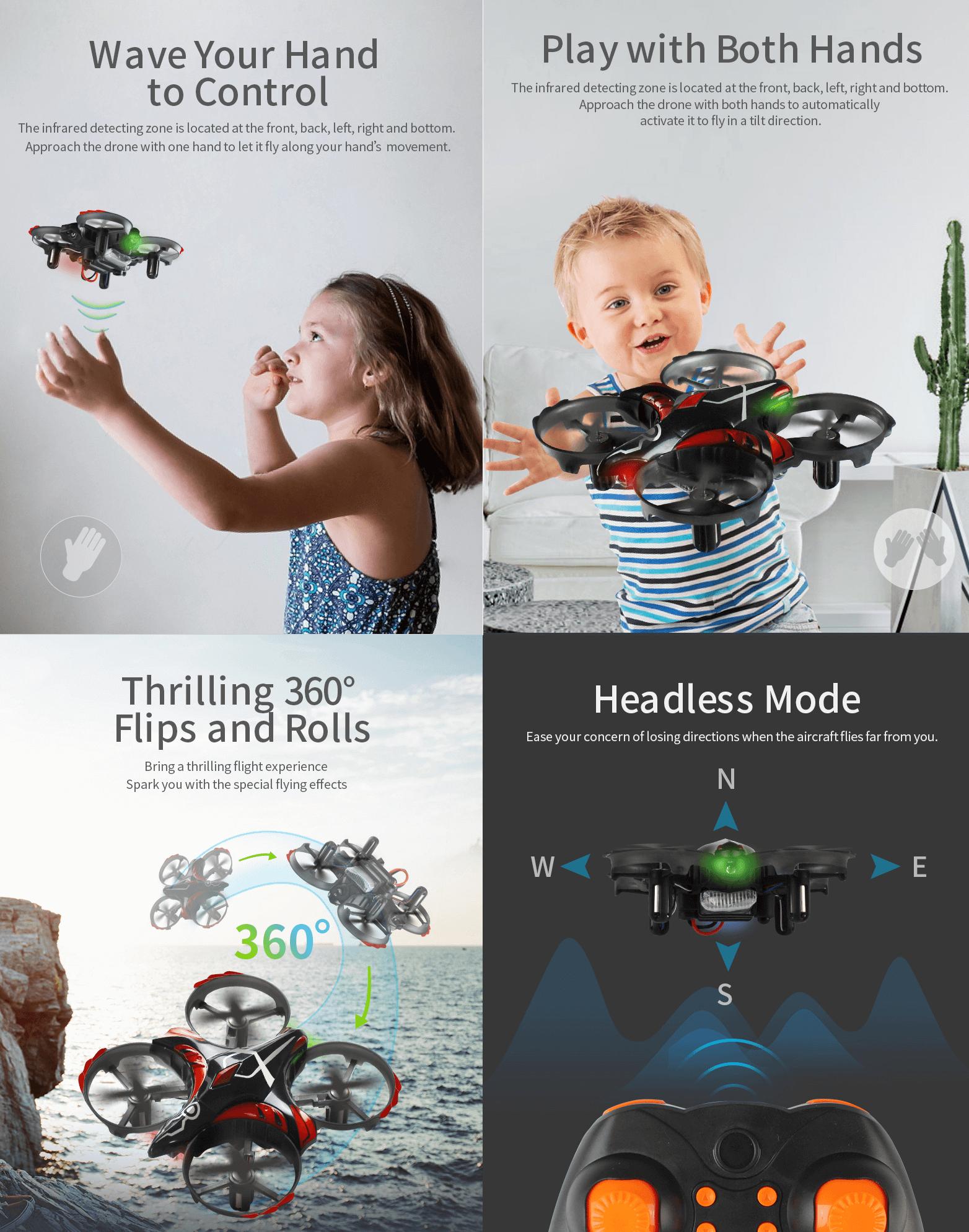 JJRC H56 TaiChi mini dron opis funkcjonalności