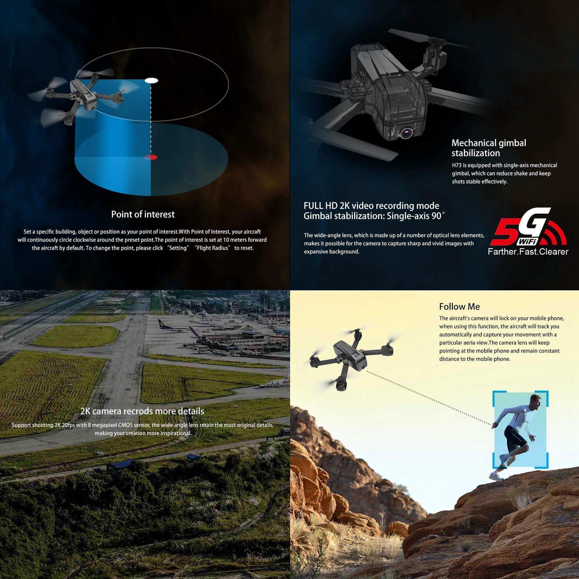 Składany dron JJRC H73 opis funkcji kamery