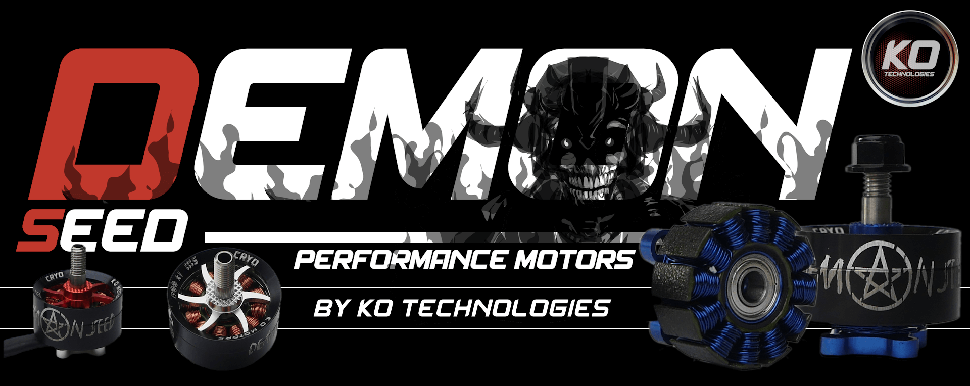 KO Demon Seed motor for FPV race drone with camera