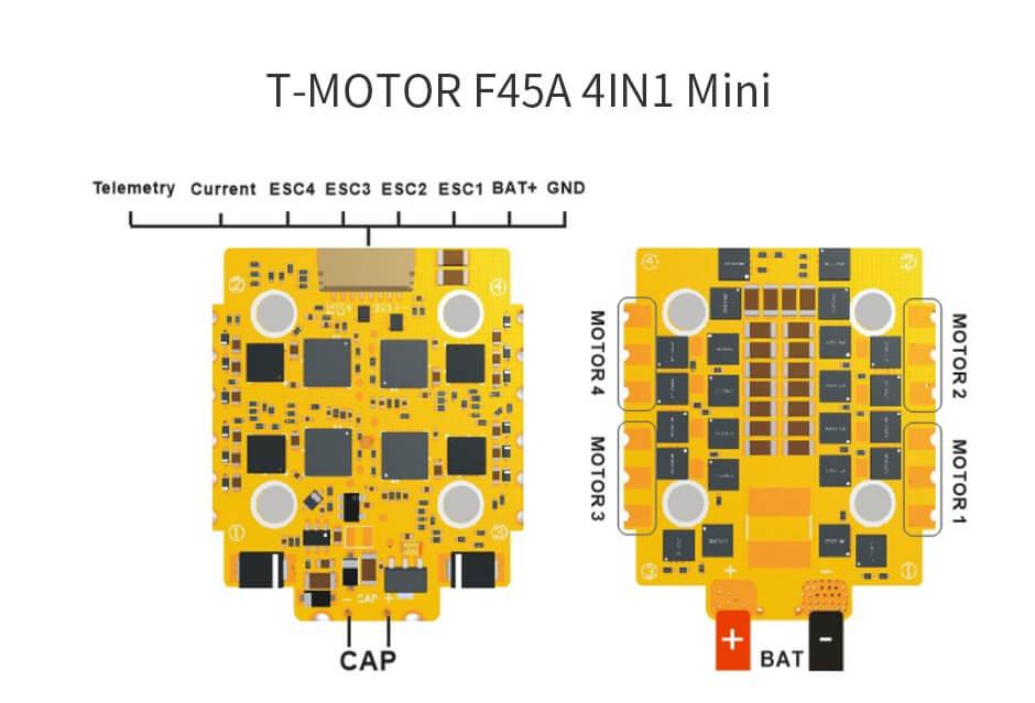 ESC F45A mini 4in1 T-Motor do cinewhoopa