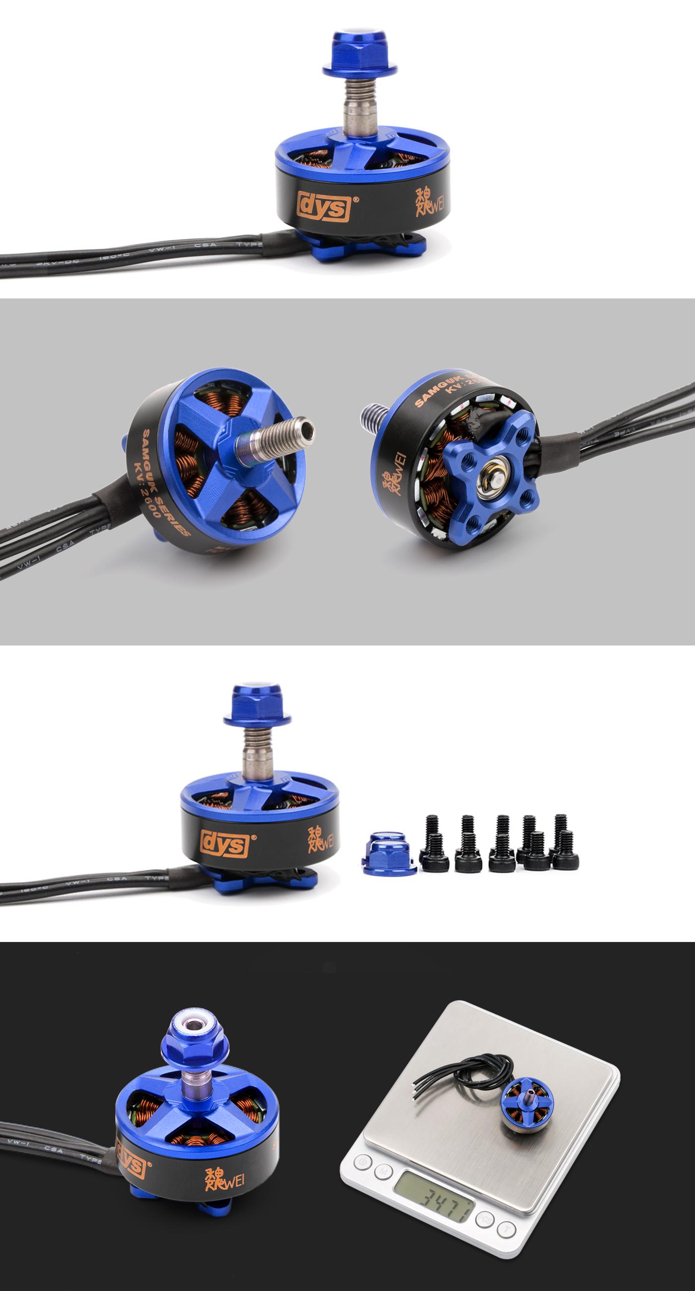 Silnik do FPV DYS Wei 2207 o 1750kV , 2300kV , oraz 2600kV