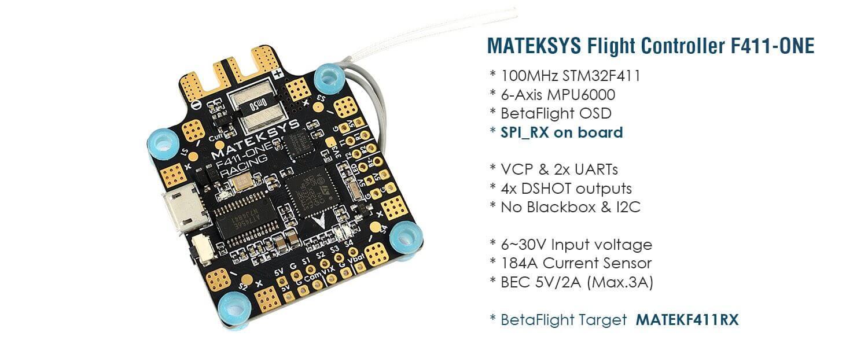FC Matek F411-mini z dużymi mozliwoścaimi