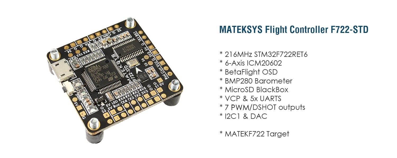Podstawowe dane FC Matek F722-STD
