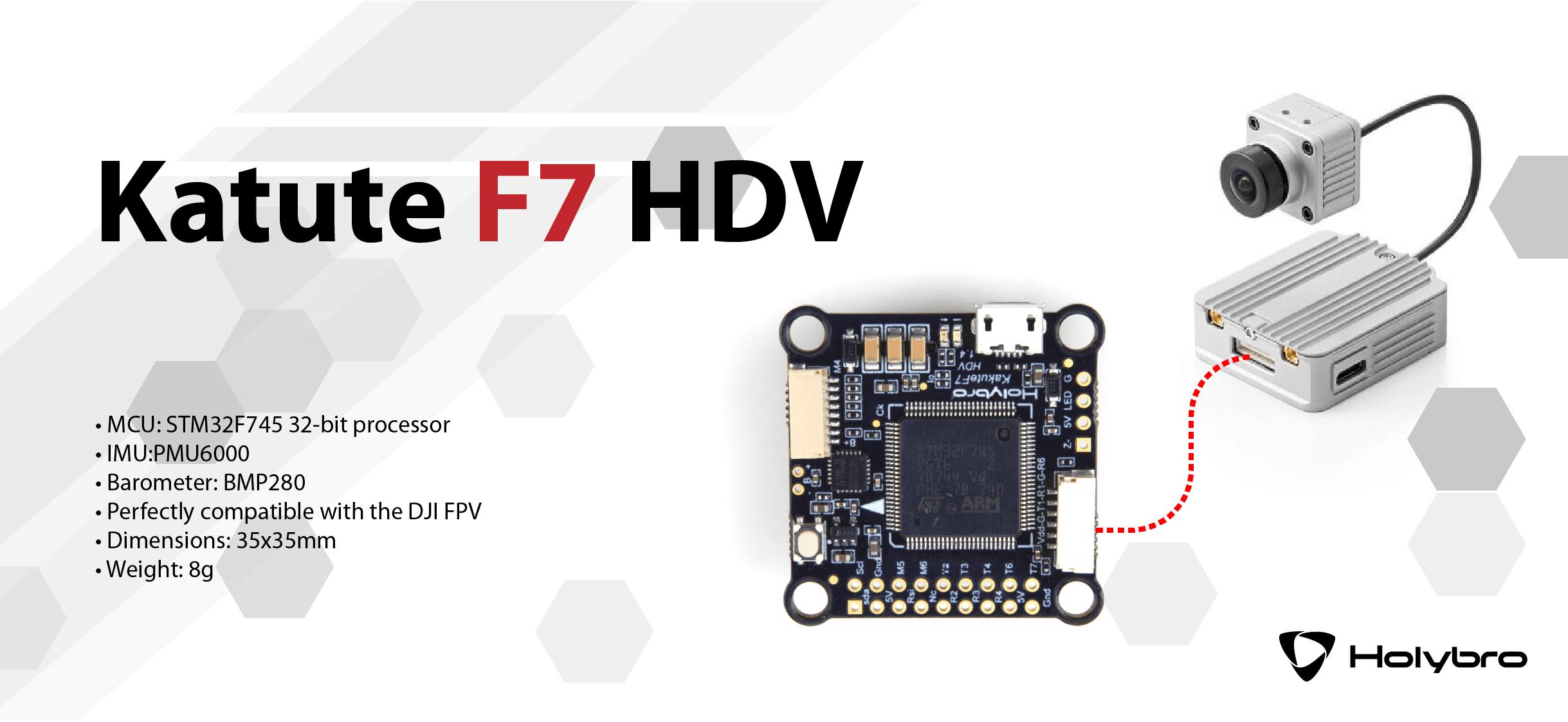 Najwyższej jakości FC Kakute F7 HDV umożliwiający podłączenie DJI VTX