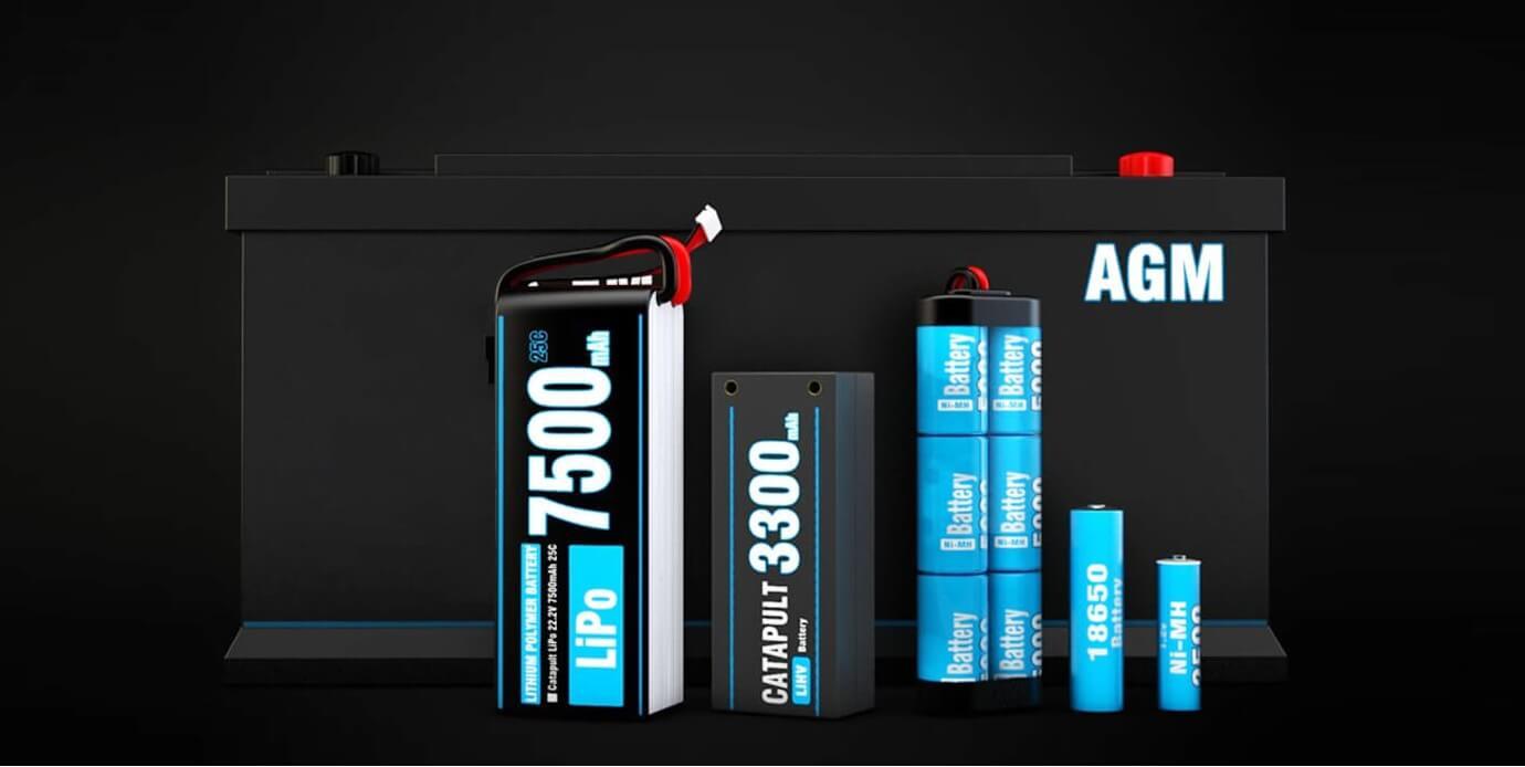 Umożliwia ładowanie wielu typów akumulatorów takich jak Li-Po Li-Ion