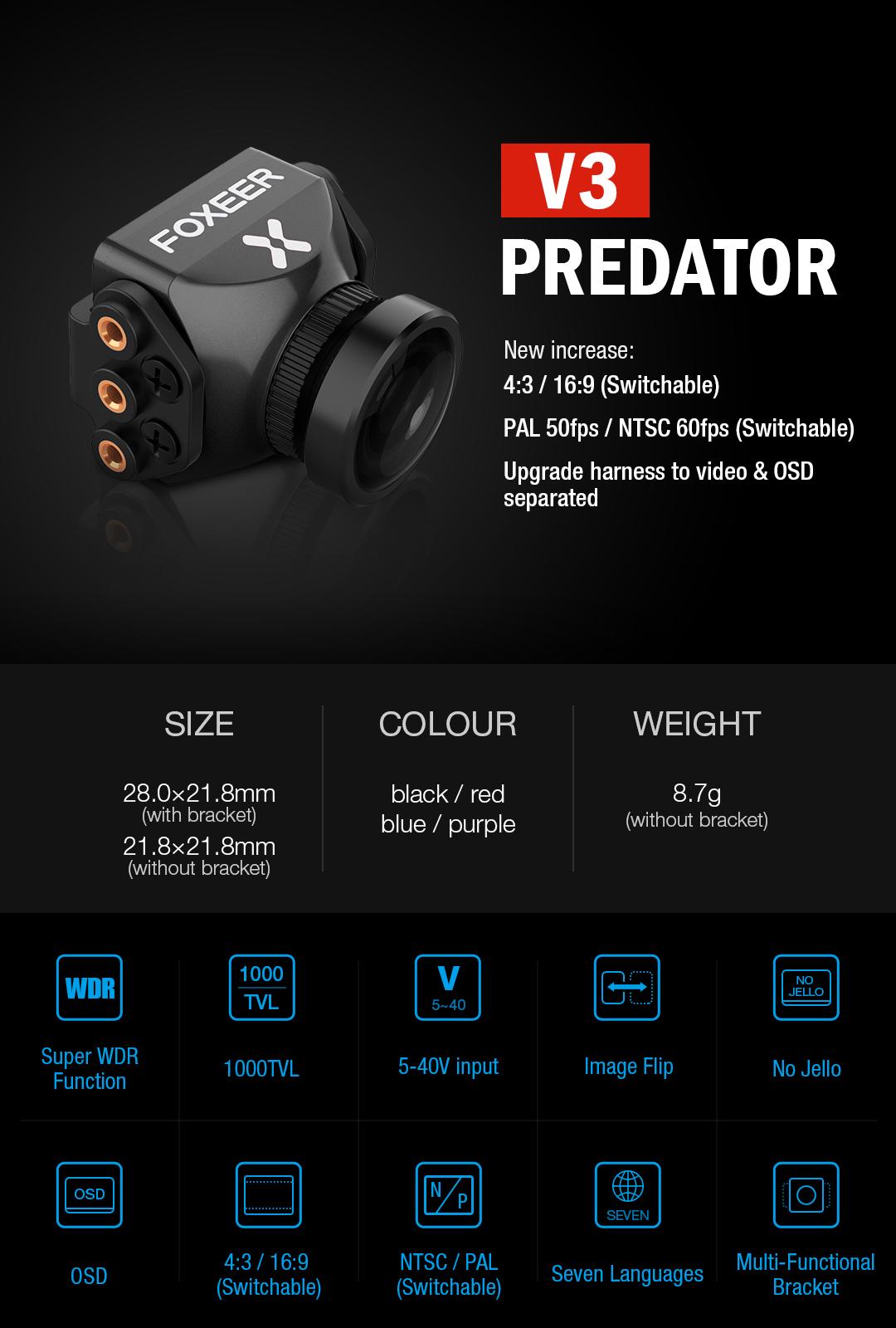 Foxeer Predator V3 możliwości