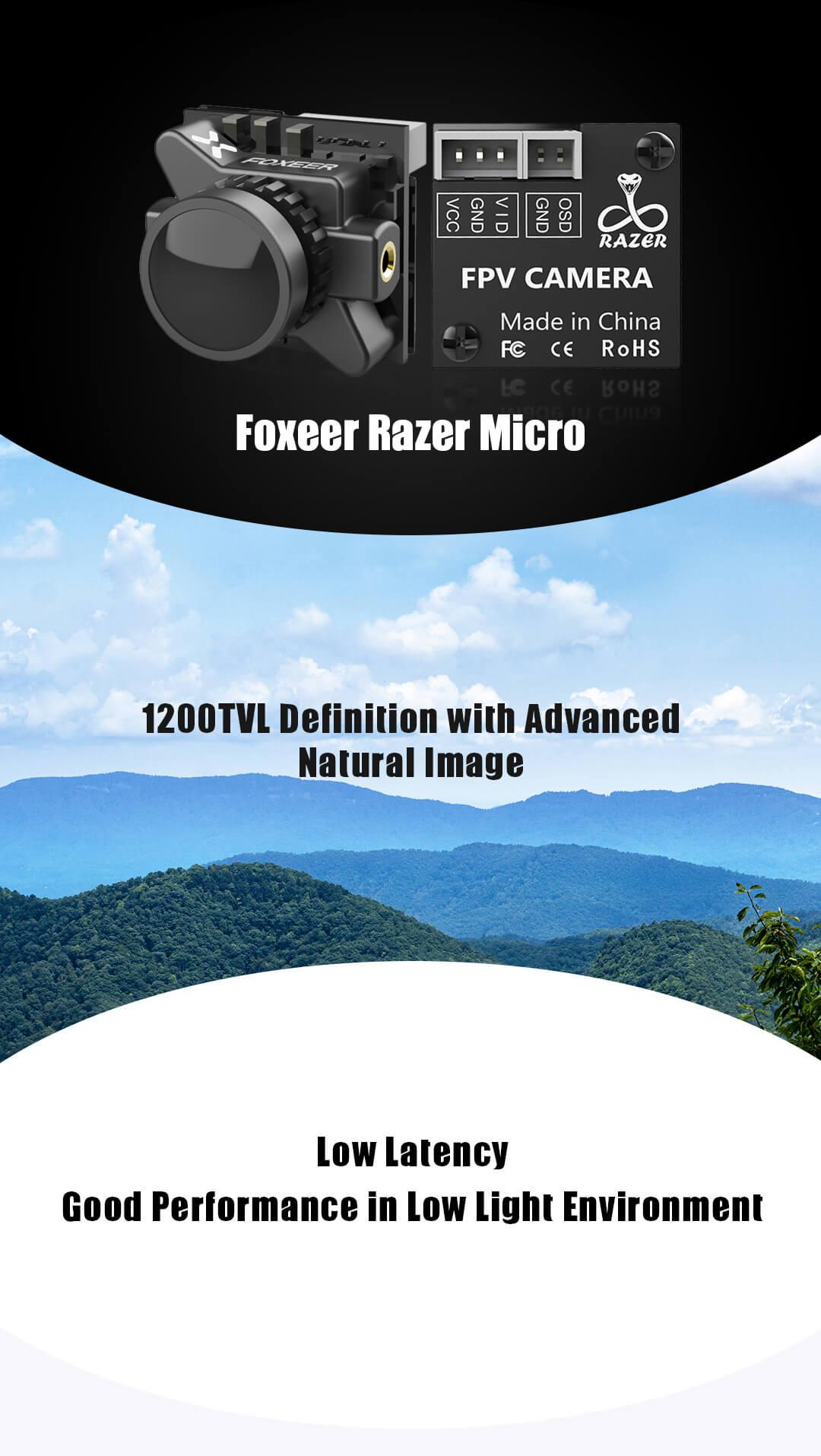 Foxeer Razer Micro infografika