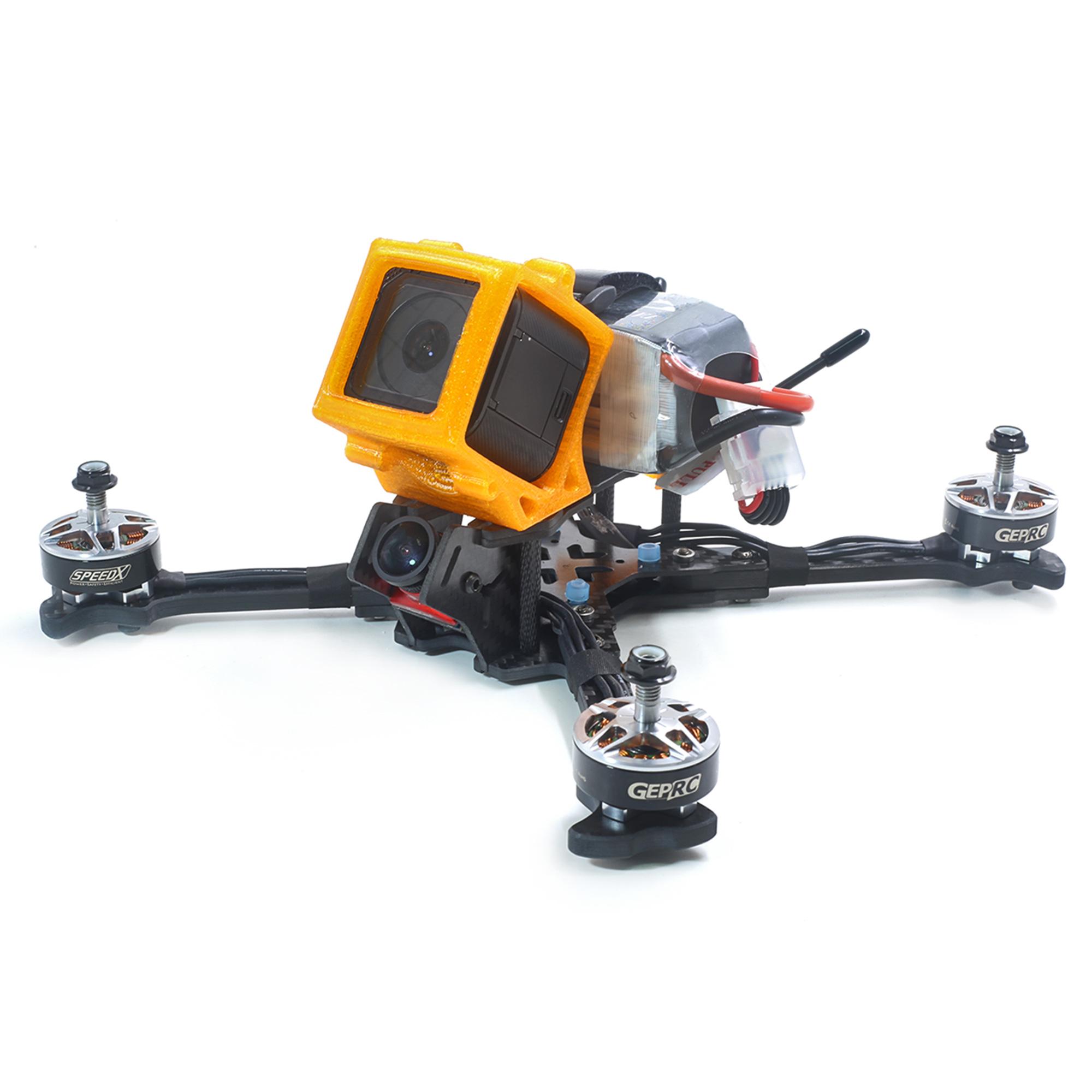 Rama do drona wyścigowego GEP OX-X5 z baterią na górze