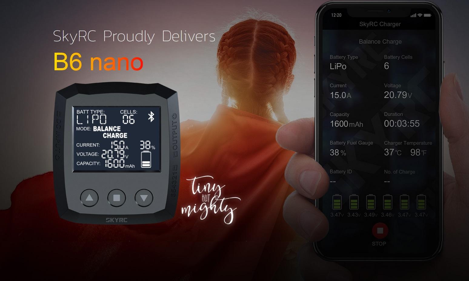 Ładowarka B6 Nano SkyRC 15A 320W możliwości