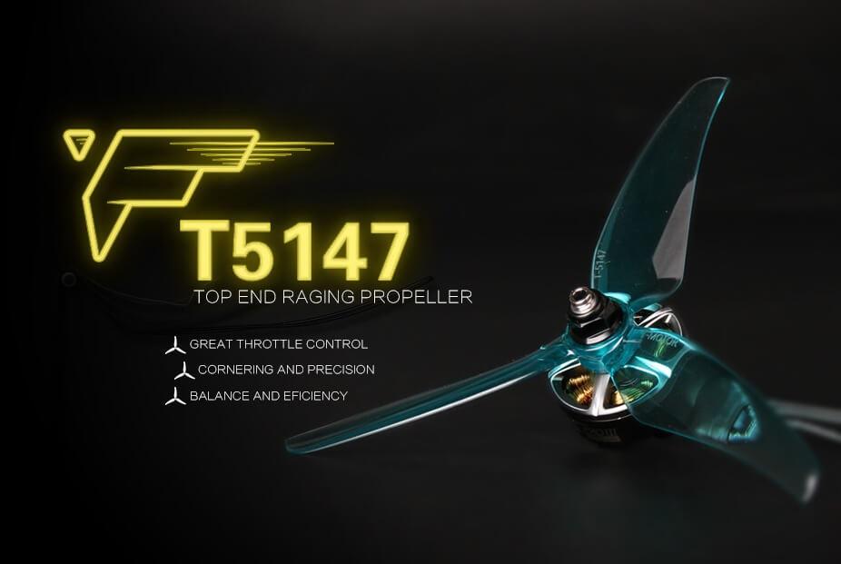 Smigła T-Motor T5147 są idealne do modeli FPV. Dedykowane są dla dronów racingowych i freestylowych.