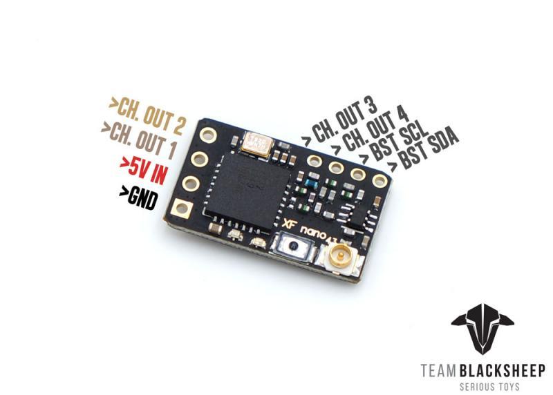 TBS Crossfire Nano połączenia
