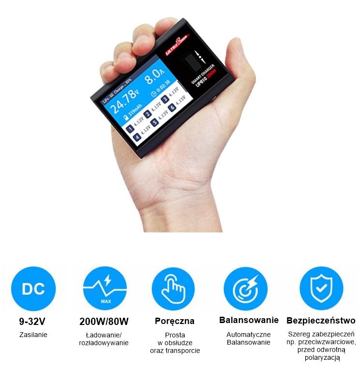 Ładowarka UltraPower UP610 mocne strony